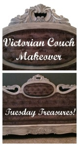 Victorian Couch Makeover - Tuesday Treasures