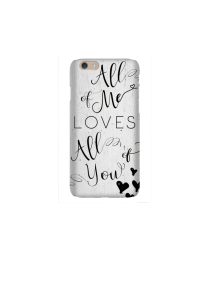 6s All of Me black hearts on white wood Mockup