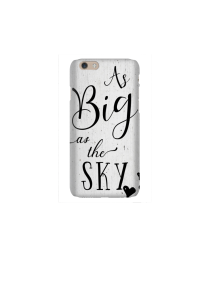 6s As Big as the Sky black heart on white wood Mockup