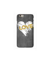 6s Chalk heart gold love Mockup