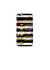6s Goal Digger gold on b&w stripes Mockup3