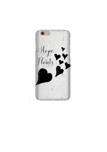 6s Hope Floats hearts black on white wood Mockup