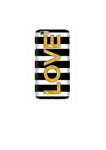 6s LOVE gold on b&w stripes Mockup2
