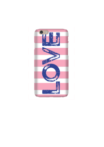 6s LOVE Navy on Pink White Stripe Mockup