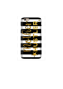 6s Mother Hustler gold b&w stripes Mockup