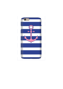 6s Pink Anchor on navy & white stripes Mockup2
