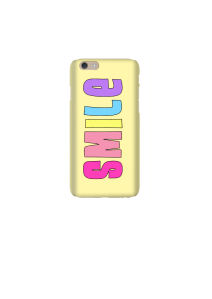 6s SMILE pastel rainbow on sunshine Mockup
