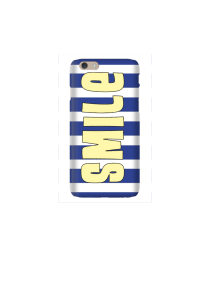 6s Sunshine Smile on navy white stripes Mockup