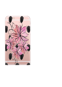 iPhone 6S 4 flowers on large dots watercolor