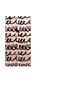 iPhone 6S Black Abstract Cursive Swirls