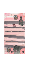 iPhone 6S black rose stripes watercolor