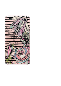 iPhone 6S Black Stripes Patchwork Flowers She Believed