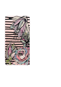iPhone 6S Black Stripes Patchwork Flowers Stars in Eyes