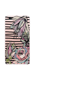 iPhone 6S Black Stripes Patchwork Flowers