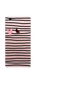 iPhone 6S Black Stripes Pink Heart