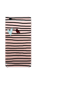 iPhone 6S Black Stripes Sea Mist Heart