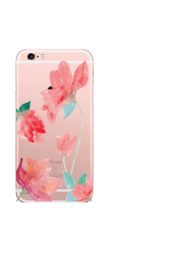 iPhone 6S Blush Flowers Green Leaves Watercolor