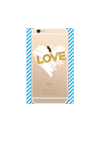 iphone 6s Chalk Heart Gold Love on gold iPhone clear Mockup