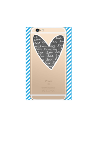 iphone 6s Chalk Love Heart Black on gold iPhone clear Mockup