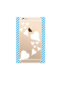 iphone 6s Floating White Hearts on gold iPhone clear Mockup