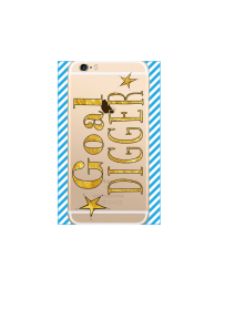 iphone 6s Goal Digger gold on gold iPhone clear Mockup