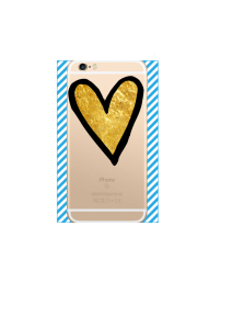 iphone 6s Gold Heart on gold iPhone clear Mockup
