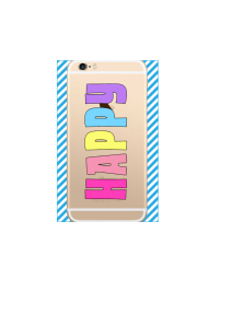 iphone 6s HAPPY pastel rainbow on gold iPhone clear Mockup