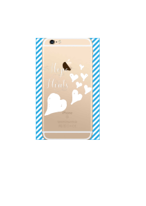 iphone 6s Hope Floats White Hearts on gold iPhone clear Mockup