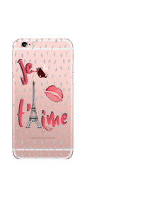 iPhone 6S Je T'aime Tower lips small dots watercolor