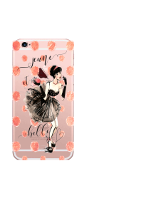iPhone 6S jeune et belle girl dots