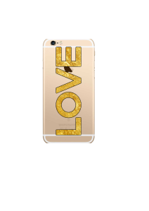 iphone 6s LOVE gold on gold iPhone clear Mockup