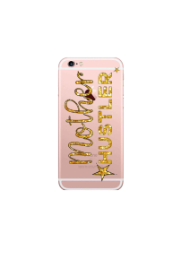 iphone 6s Mother Hustler gold on rose gold iPhone clear Mockup