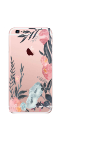 iPhone 6S Navy Blush Watercolor Mockup