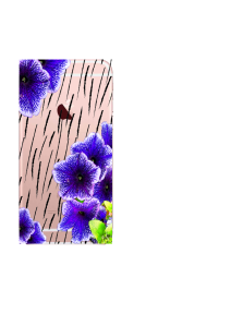 iPhone 6S Purple Flowers Black Rain Watercolor