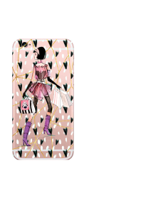 iPhone 6S Shopping Girl Hearts Dots Watercolor