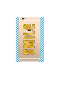 iphone 6s SMILE gold on gold iPhone clear Mockup