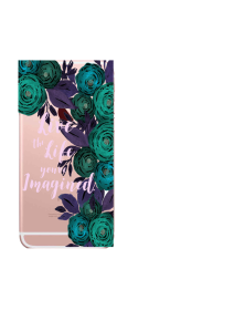 iPhone 6S Teal Purple Bouquets Live Life Watercolor