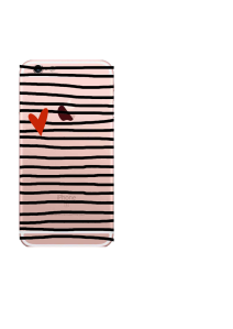 iPhone 6S Vlack Stripes Red Heart