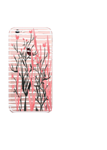 iPhone 6S White Stripes Pink Reeds Buds